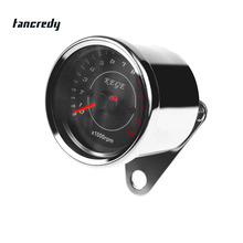 12V Motorcycle Tachometer Gauge LED Backlight 13K RPM Shift for Harley Davidson Honda Yamaha Suzuki Kawasaki Watch Clock(China)
