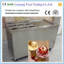 Factory Price Thailand Flat Pan Fried Ice Cream Roll Machine