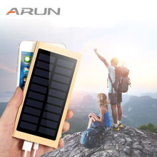 Fast Charge Solar Power Bank 20000mah Powerbank Portable Charger External Battery Dual USB Poverbank For Xiaomi Mi Mobile Phone