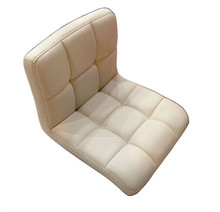 Floor Leather Chair 360 Degree Swivel Beige Sofa Living Room Furniture Japanese Meditation Backrest Legless Tatami Zaisu Chair(China)