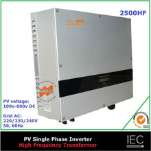 2500W on grid high frequency solar inverter single phase transformer certificates CE IEC CDE G83 AS DK(China)