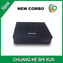 new hot selling amiko mini hd combo receiver dvb S2&T2&C support cccam card sharing(China)