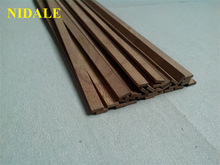 NIDALE Model 1 mm thickness Black walnut ancient Ship model Special-purpose wood material Solid wood batten 50 pcs/lot