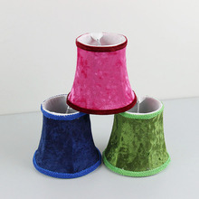 New!!! Red Green Blue Flannel Lamp shades, Chandelier Mini Lamp Cover, Clip On(China)
