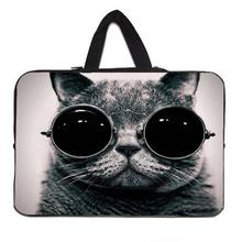 "Sunglasses Cat Laptop Sleeves Case Bag For 7.9 10 11.6 13.3 15 15.6 17.4"" Netbook Neoprene Computer Carry Pouch For Macbook Asus"