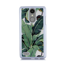Favourite Green Plant Banana Tree Leaf Print Case for LG K4 2017 Hard PC Luxury Phone Case for LG K8 K10 2017