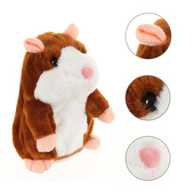 Mimicry Talking Hamster Repeats What You Say The Cute Plush Animal Toy Electronic Hamster Mouse Children Learn To Speak toys(China)