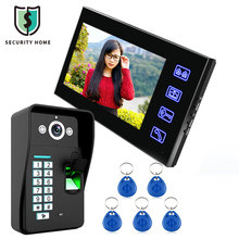 SY816A - MJF11 7 Inches LCD Fingerprint Recognition Video Door Phone Intercom System IR Camera HD 1000 TV Line Security Intercom