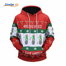 2017 Covrlge Men's Hoodies Christmas Fashion 3D Printed Anime Pullover High Quality Free Shipping Men's Clothing M-5XL MWW078(China)