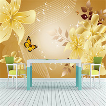 Luxury European Style Flowers & Butterfly Photo Wallpaper Wall Mural Non-woven Canvas Vintage ROOM DECOR Nursery Bedroom Hallway