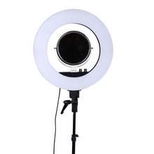 18 inch LED Photo Ring Light 5500K Video Light Lamp Digital Photographic Lighting with Makeup mirror