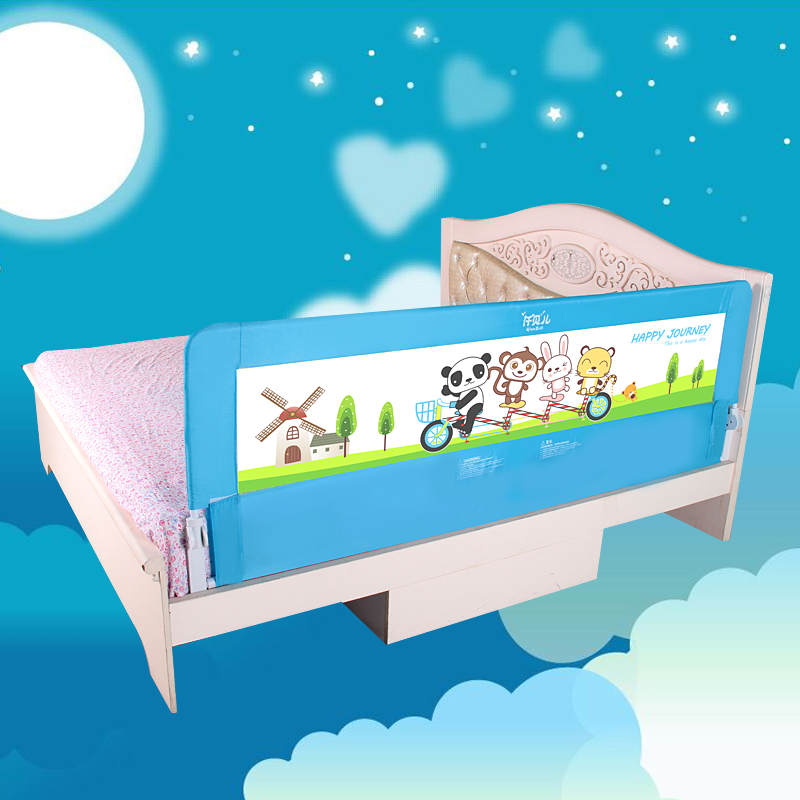 68cm high baby bed rails 150cm 180cm baby bed safety fence pink blue colors baby sleeping guard rail pannel<br>