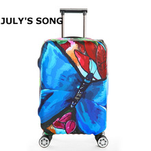 Butterfly Print Trolley Suitcase Protective Cover 18-32 Inch Elastic Luggage Cover Carry on baggage Case Bag Travel Accessories(China)