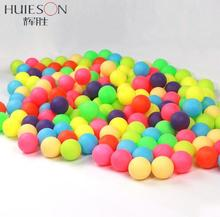 Huieson 100Pcs/Pack Colored Ping Pong Balls Entertainment Table Tennis Balls Mixed Colors for Game and Advertising(China)