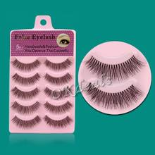 2017 Hot Sale 5 pairs Fashion Women Handmade False Eyelashes Popular Messy Natural Long Thick Paragraph False Eye Lashes