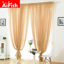 Solid Hemp Fabrics For Curtains Panels Curtains for the living room Bay Window Balcony Kitchen Partition Tulle Curtains MY011-3