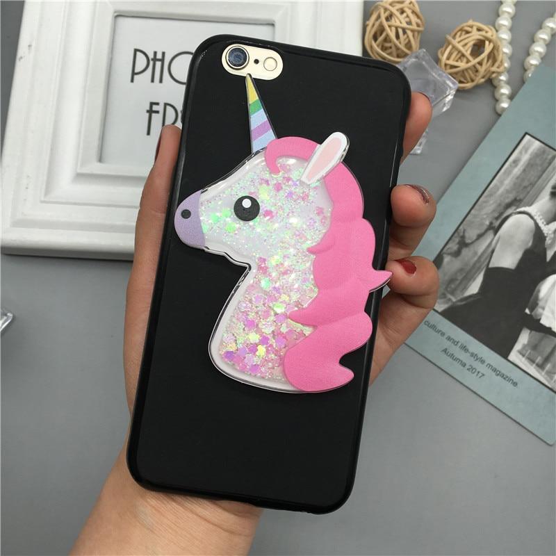3D Unicorn Quicksand Liquid Soft Silicone Case For ASUS Zenfone 2 ZE551ML ZE550ML Z008D Z00AD Z00ADA Z00ADB Phone Cover Cartoon