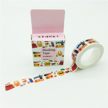 GREENHOW household products  Pattern Japanese Washi Decorative Adhesive Tape DIY Masking Paper Tape Label Sticker Gift