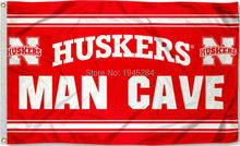 NCAA Nebraska Huskers Man Cave Flag Banner New 3x5ft 90x150cm Polyester 9388, free shipping(China)