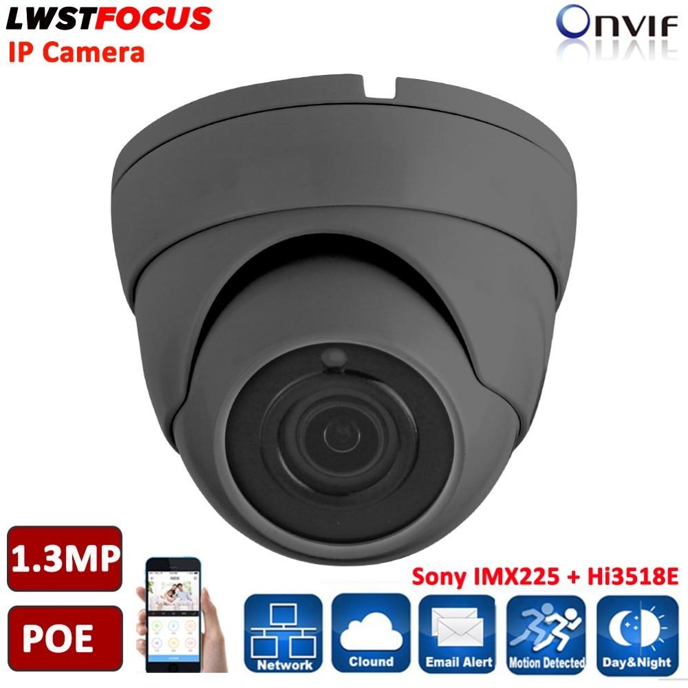 LWSTFOCUS 2.8mm/3.6mm wide angle 1.3MP Onvif P2P 960P Metal IP Camera IP66 dome Phone View 20Meter Night Vision CCTV Freeip Pro<br>