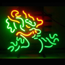 Neon Sign BEER BAR CLUB MILLER GAME Neon Light Sign Dragon Lamps Arcade handcraft Glass Neon Lamps Publicidad Neon Lights 17x14(China)