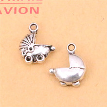 15pcs Tibetan Silver Plated pram baby Charms Pendants for Necklace Bracelet Jewelry Making DIY Handmade 16*13mm