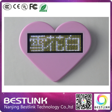 rechargeable led name card white color led scrolling sign with magnets and pin business card adjustable brightness muti-color