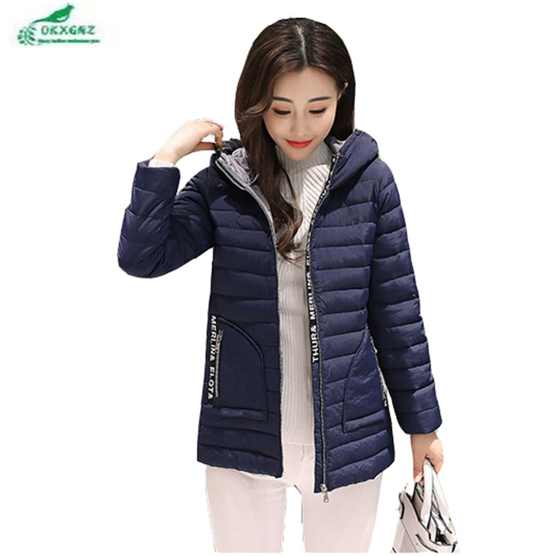 Winter middle-aged feather cotton jacket female  thickening hooded short jacket coat women large size Slim warm Outerwear OKXGNZÎäåæäà è àêñåññóàðû<br><br>