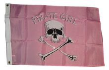 Jolly Roger Pirate Girl Pink Skull Polyester Outdoor Banner Flag3' x 5' Banner metal holes Flag Custom Any Flag(China)