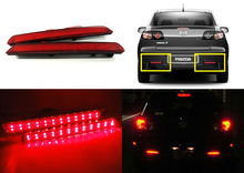 2X Red Lens 24 LED Rear Bumper Reflector Tail Brake Light 04-09 For Mazda3 Mazda 3 Axela Mazdaspeed3