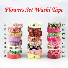 New 1x Hot Stamping Flowers Cherry blossom Japanese Washi Tape Scrapbooking Decorative DIY Masking Tape Office Adhesive Tape 10M