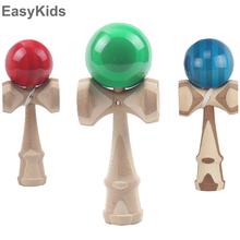 Wooden Kendama Sports Toys Professional Bamboo Kendama Skillful Juggling Ball Fun Toys For Children Adult 5 Colors Outdoor Toys