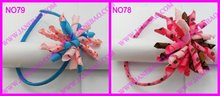 Free shipping new style 140pcs 2.5'' korker headbands mix color korker hairbands korker hair bows(China)