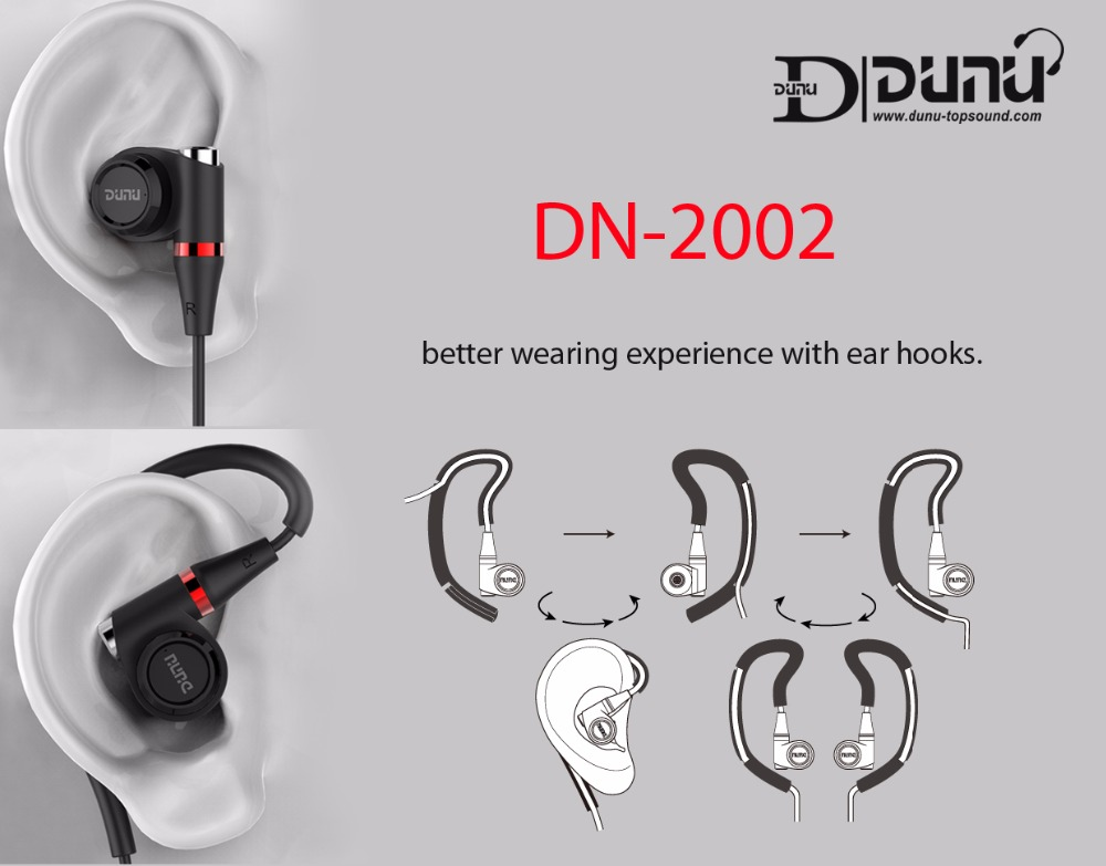 DUNU DN2002 HiFi Inner-ear Earphone 2BA+2Dynamic Hybrid 4 Driver IEM Earphones DN-2002