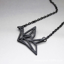 Gold/Silver Exquisite Origami Crane Necklace pigeon Pendant Necklaces New Simple Animal Jewelry YP2144