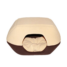 1pcs New Designed Dual-purpose Comfortable Pet Products Kennel Cat Nest Yurt Dog Cushion Pet Nest Can Fold Pet Sleeping Bag