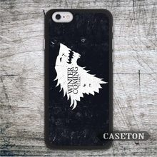 White Wolf House Stark Case For iPhone 7 6 6s Plus 5 5s SE 5c 4 4s and For iPod 5 Classic Game Of Throne Phone Cases