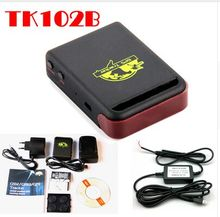 BY DHL OR EMS  10 pieces 2014 New Arrival GPS Tracker TK102B + Battery Quad Band GPS Tracking Device