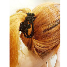 2016 New Acrylic Platstic Black Hair Accessories Flowers Claws Jaw Clips Crab Grip Holder for Womens Elegant Hair Jewelry FZ40(China)