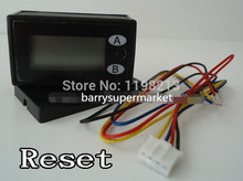 RESET 7-digit LCD coin Counter meter 2 channels for counting couters 4.5V-18V(China)