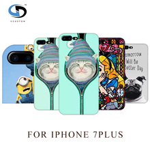 vcustom Fashion Cute Cat In Socks Art Printed Hard Plastic Case For Iphone 7Plus Case Protect Phone Cases Coque Capa Housing