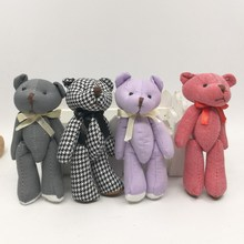 New Cute bears Bowknot Plush Toys Knitting Teddy Bear Doll Kawaii Small Plush Toys Stuffed Fluffy Bear Dolls Toy Gifts(China)