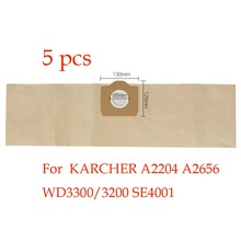 5pcs Replacement KARCHER vacuum cleaner A2204 A2656 WD3300/3200 SE4001 dust bag vacuum cleaner bag paper bag(China)