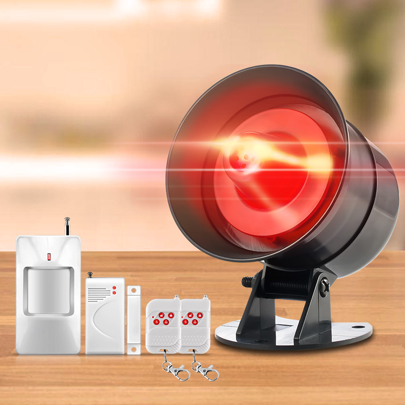 110db Wireless  Loud Security Siren Rapid Code Strobe Siren Alarm Sound Flash Alarm System  Home Burglar Security <br>