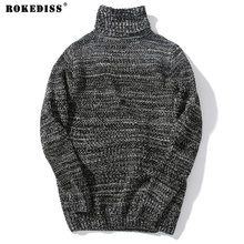 Korean Designs Mens Turtleneck Sweaters Solid Khaki Men's Jumpers Knitted Pullover Male Dress Slim Fit Sweater For Men  TC700