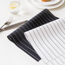 4pcs/set Modern Table Mat PVC Dining Table Heat-resistant Placemat Bowl Pad Coasters Slip-resistant Tablemat Black/White(China)