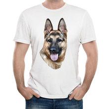2018 New Harajuku summer Men t-shirt German Shepherd Dog printed T-Shirt funny dog design humor man Tops Hipster cool male Tee(China)