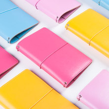 Original homemade leather traveler notebooks,Fine cute portable colorful bandage personal organizer/weekly planer stationery