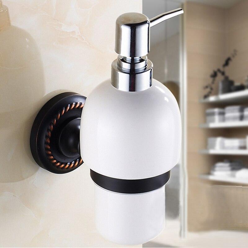 Black bronze wash basin-wide copper foam soap dispenser bottle of hand sanitizer hand sanitizer sink units set wall boxes<br>