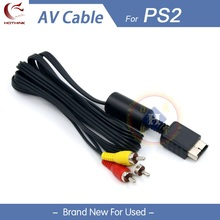 HOTHINK AV Audio Video cable for Sony Playstation 2 3 PS2 / PS3 consoles 1.8M/5FT(China)